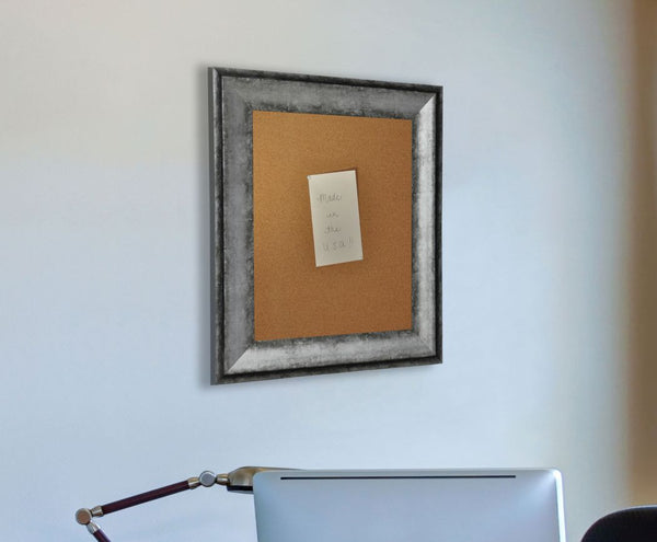 American Made Rayne Sterling Charcoal Corkboard - C65 ~Suggested Retail~
