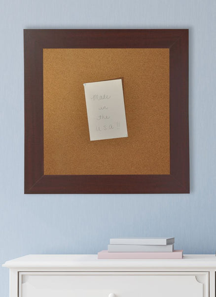 American Made Rayne Dark Mahogany Corkboard - C76 ~Suggested Retail~
