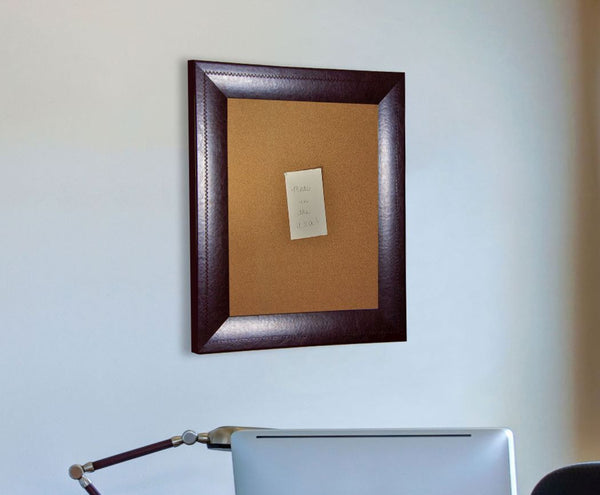 American Made Rayne Espresso Leather Corkboard - C23 ~Suggested Retail~