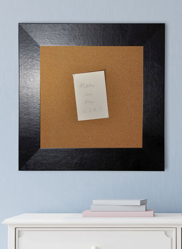 American Made Rayne Black Wide Leather Corkboard (C37) *Suggested Retail*