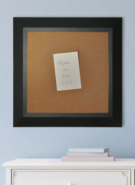 American Made Rayne Attractive Matte Black Corkboard - C53 ~Suggested Retail~