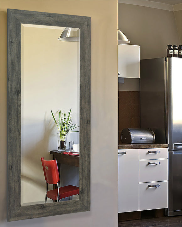 American Made Rayne Grey Barnwood Tall Body Mirror Size 26x64 - R064TM or V064TM ~Suggested Retail~