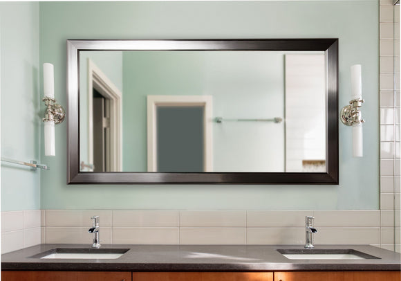 American Made Rayne Silver Rounded Double Vanity Mirror (DV001) *Suggested Retail*