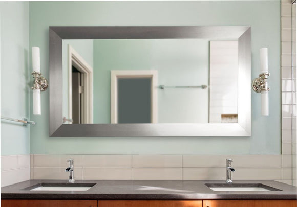 American Made Rayne Silver Wide Double Vanity Mirror (DV003) *Suggested Retail*
