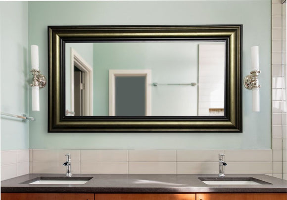 American Made Rayne Stepped Antiqued Double Vanity Mirror - DV007 ~Suggested Retail~