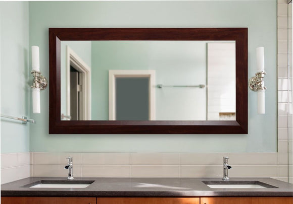 American Made Rayne Dark Walnut Double Vanity Wall Mirror (DV016) *Suggested Retail*