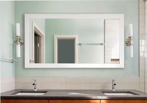 American Made Rayne Glossy White Double Vanity Mirror (DV021) *Suggested Retail*