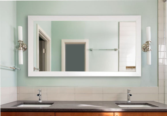 American Made Rayne Glossy White Double Vanity Wall Mirror (DV021) *Suggested Retail*