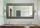 American Made Rayne Antique Silver Double Vanity Wall Mirror (DV028) *Suggested Retail*