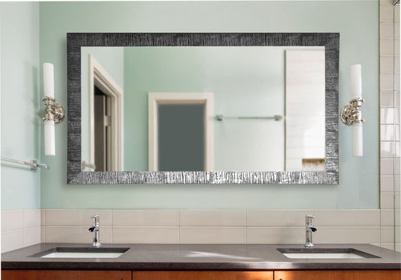American Made Rayne Safari Silver Double Vanity Wall Mirror - DV034 ~Suggested Retail~