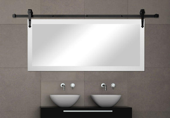 Non-Bevel Wall Mirror With Barn Door Kit (DV036) *Suggested Retail*
