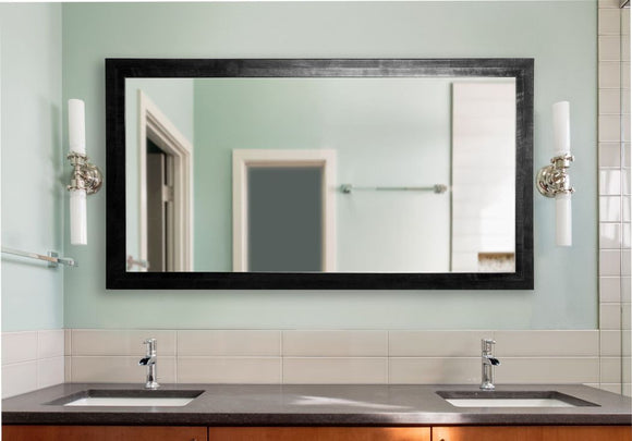 American Made Rayne Black Smoke Double Vanity Wall Mirror - DV045 ~Suggested Retail~