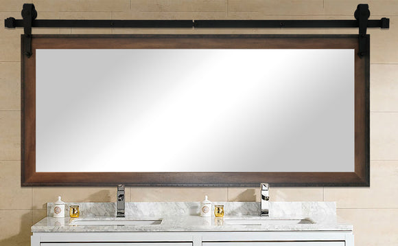 Non-Bevel Wall Mirror with Barn Door Kit (DV052) *Suggested Retail*