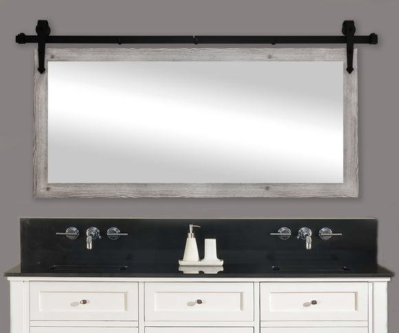 Non-Bevel Wall Mirror with Barn Door Kit (DV059) *Suggested Retail*