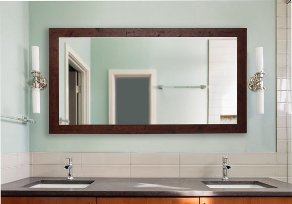 American Made Rayne Rustic Dark Walnut Double Vanity Mirror (DV061) *Suggested Retail*