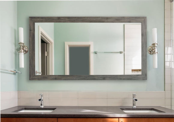 American Made Rayne Grey Barnwood Wall Mirror - DV064 ~Suggested Retail~