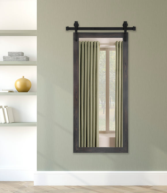 American Made Black Walnut Wall Mirror with 3' Barn Door Kit (DV068-3V) *Suggested Retail*