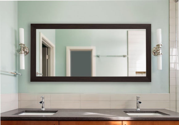 American Made Rayne Black Walnut Double Vanity Wall Mirror (DV068) *Suggested Retail*