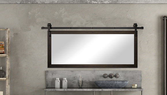 Non-Bevel Wall Mirror with Barn Door Kit (DV068) *Suggested Retail*