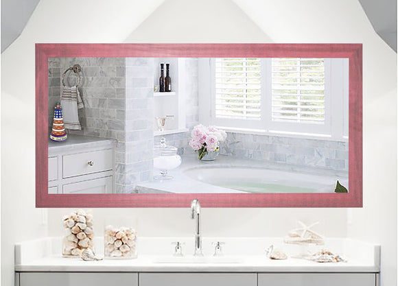 U.S. Made Vintage Pink Double Vanity Wall Mirror - DV096 ~Suggested Retail~
