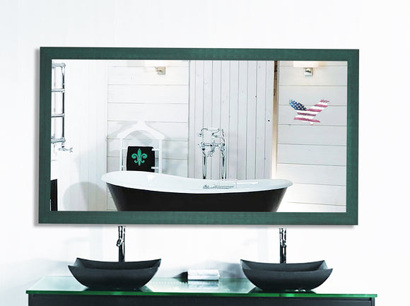 American Made Country Cottage Aqua Double Vanity Wall Mirror (DV098) *Suggested Retail*