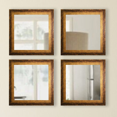 American Made Rayne Tarnished Bronze Square Mirror Sets - S067S.4 ~Suggested Retail~