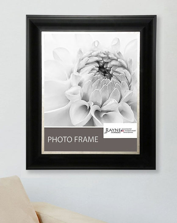 American Made Rayne Grand Black and Aged Silver Picture Frame (F54) *Suggested Retail*