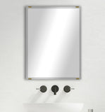 "American Made Beveled Frameless Rectangular Wall Mirror (B-1/4-FRMLS-ANTQ GLD-36"") *Suggested Retail*"