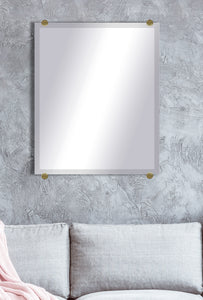 "American Made Beveled Frameless Rectangular Wall Mirror (B-1/4-FRMLS-BRASS RD-36"") *Suggested Retail*"