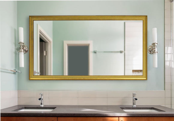 American Made Rayne Vintage Gold Double Vanity Mirror (DV057) *Suggested Retail*