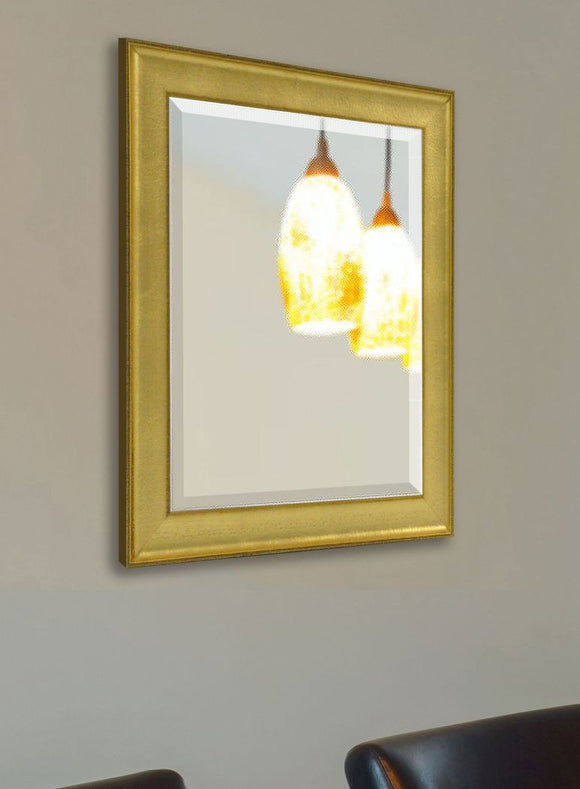 American Made Rayne Vintage Gold Beveled Wall Mirror (R057) *Suggested Retail*