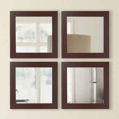 American Made Rayne Dark Mahogany Square Mirror Set - S076S.4 ~Suggested Retail~