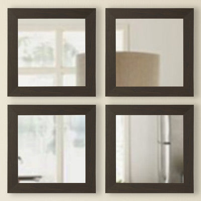 American Made Rayne Black Walnut Square Wall Mirror Sets - S068S.4 ~Suggested Retail~