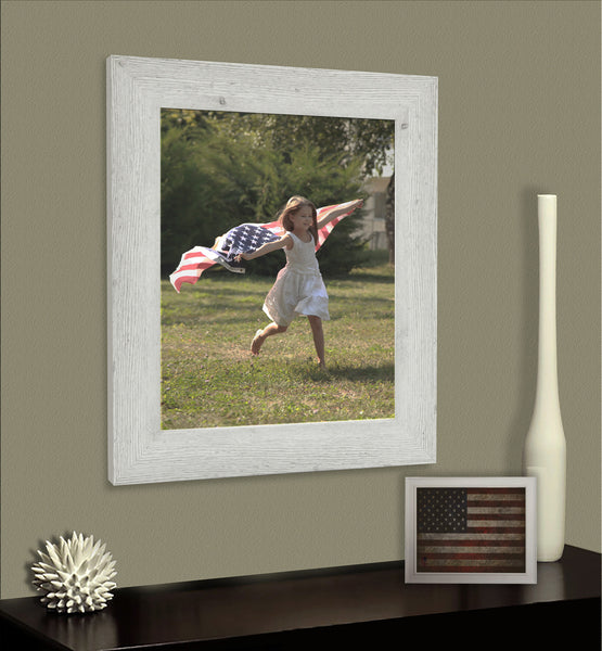 American Made Rayne White Washed Antique Frame - F59 ~Suggested Retail~
