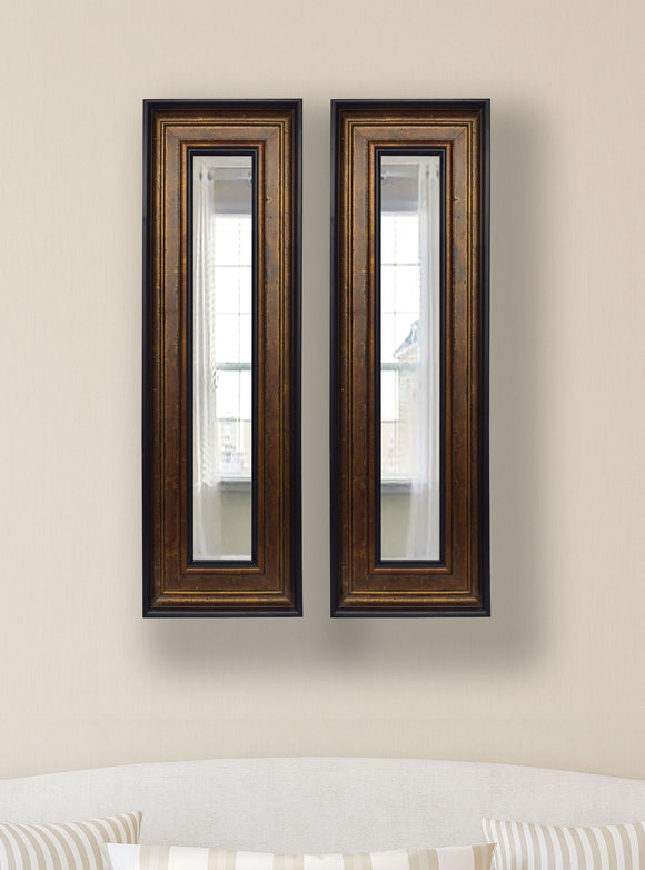 American Made Rayne Bronze and Black Panel Mirror (P15 Set of 2) *Suggested Retail*