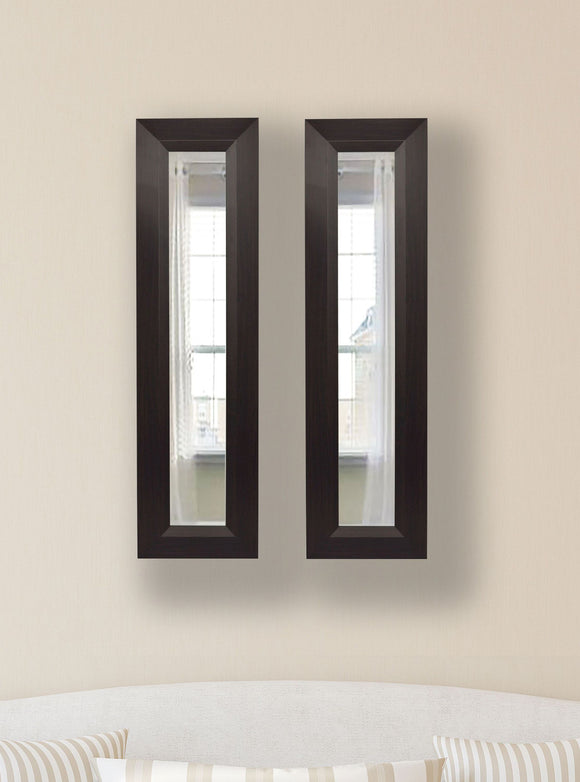 American Made Rayne Dark Walnut Panel Mirror (P16 Set of 2) *Suggested Retail*