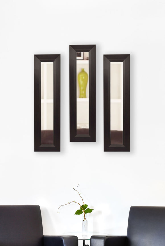 American Made Rayne Dark Walnut Panel Mirror (P16 Set of 3) *Suggested Retail*