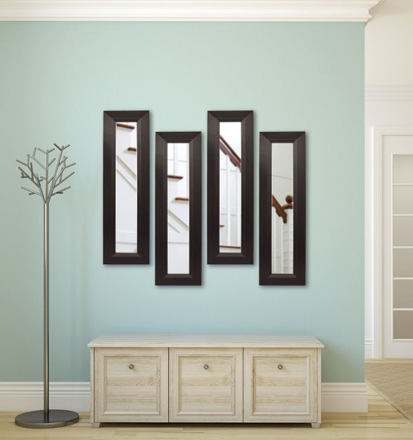 American Made Rayne Dark Walnut Panel Mirror (P16 Set of 4) *Suggested Retail*