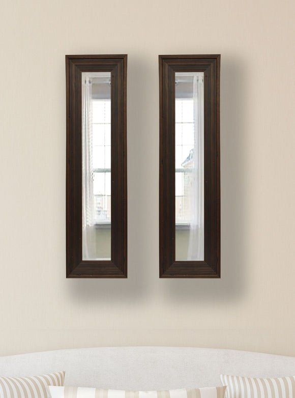 American Made Rayne Barnwood Brown Panel Mirror (P17 Set of 2) *Suggested Retail*