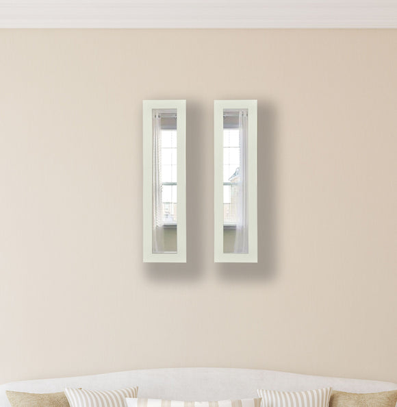 American Made Rayne Glossy White Panel Mirror (P21 Set of 2) *Suggested Retail*