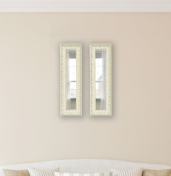 American Made Rayne French Victorian White Panel Mirror (P39 Set of 2) *Suggested Retail*