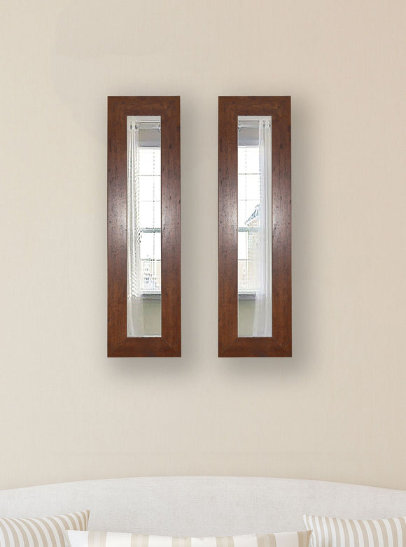 American Made Rayne Dark Walnut Panel Mirror (P61 Set of 2) *Suggested Retail*