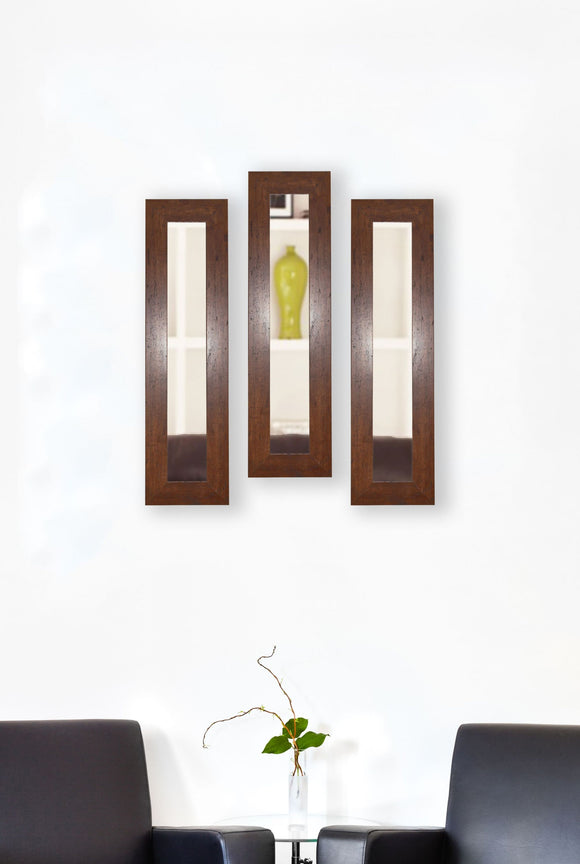 American Made Rayne Dark Walnut Panel Mirror (P61 Set of 3) *Suggested Retail*