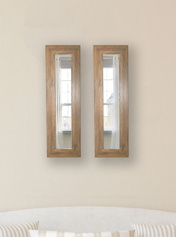 American Made Rayne Brown Barnwood Panel Mirror (P63 Set of 2) *Suggested Retail*