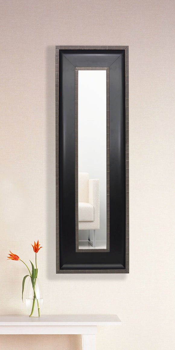 American Made Rayne Black With Silver Trim Panel Mirror (P08) *Suggested Retail*