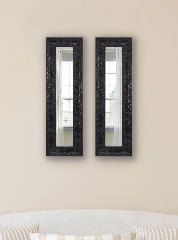 American Made Rayne Black Endicott  Panel Mirror, Set of 2 - (P80) ~Suggested Retail~