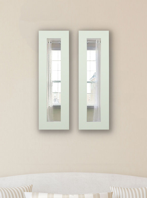 American Made Rayne Delta White Panel Mirror (P87 Set of 2) *Suggested Retail*