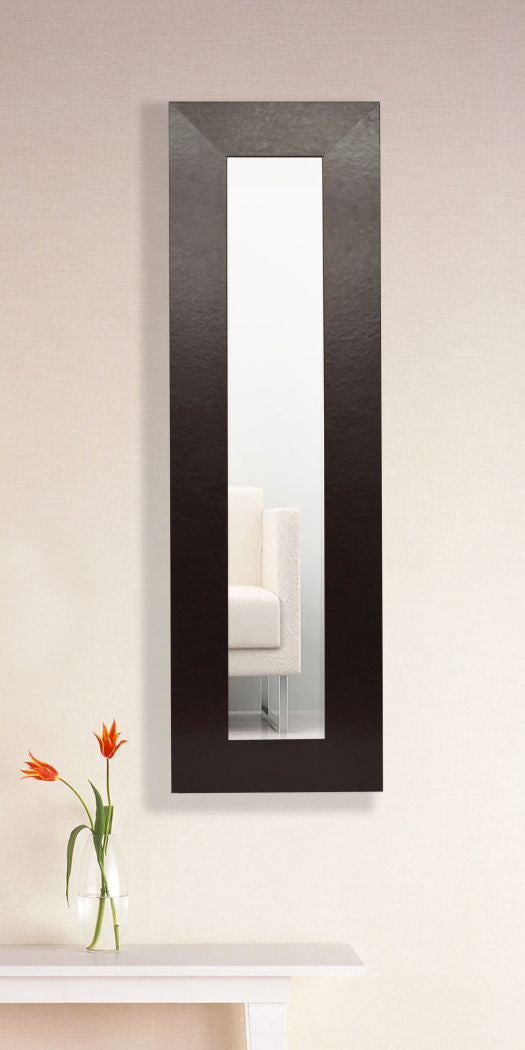 American Made Rayne Wide Brown or Black Leather Panel Mirror (P22 or P37) *Suggested Retail*