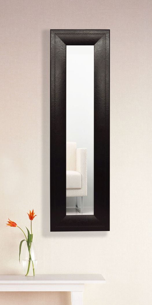 American Made Rayne Espresso Leather Panel Mirror (P23) *Suggested Retail*