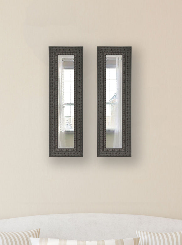 American Made Rayne Dark Embellished Panel Mirror (P51 Set of 2) *Suggested Retail*